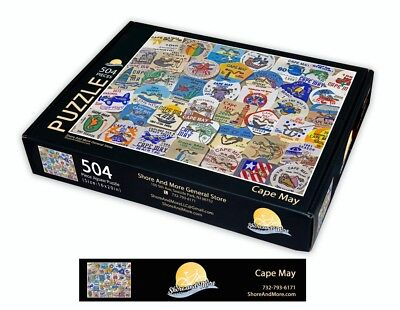 "Cape May, New Jersey Season Beach Badge Puzzle 504 Piece Puzzle 16"" x 20"""