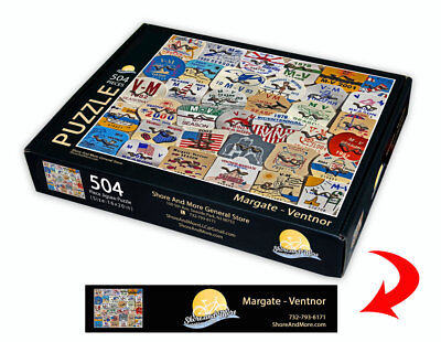 "Margate-Ventnor, New Jersey Season Beach Badge Puzzle 504 Piece Puzzle 16"" x 20"""
