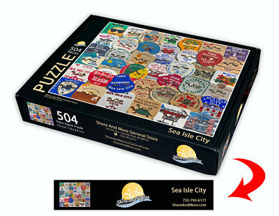 "Sea Isle City, New Jersey Season Beach Badge Puzzle 504 Piece Puzzle 16"" x 20"""