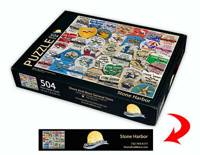 "Stone Harbor, New Jersey Season Beach Badge Puzzle 504 Piece Puzzle 16"" x 20"""