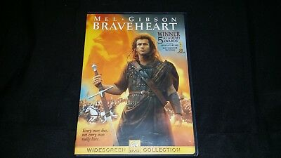 Braveheart Dvd 2000 Widescreen Movie Video Film Mel Gibson Paramount Pictures
