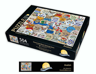 "Avalon, New Jersey Season Beach Badge Puzzle 504 Piece Puzzle 16"" x 20"""