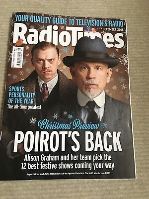 Radio Times   Magazine  1  December  2018  Christmas Preview  Poirot