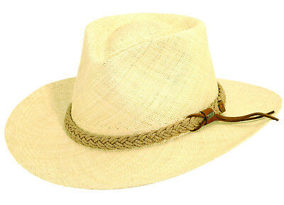 Scala   Panama Straw Outback Hat   1 Xxl   Mens New Fedora Summer Sun Shady 45a8e502ad8