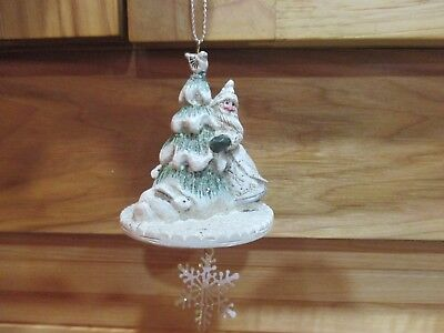 P. Schifferl ~Midwest White Santa Animals Christmas Ornament Figure Pam Rabbit