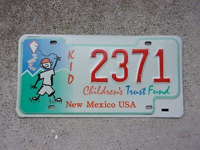 New Mexico KID License Plate  #  2371
