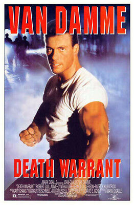 Death Warrant (1990) original movie poster - single-sided - rolled