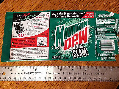 MOUNTAIN DEW Big Slam Label featuring Extreme Network Beeper Promotion