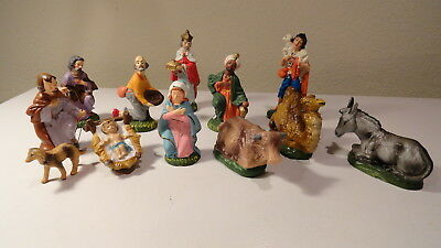 Vtg 12 Pc Nativity Japan (Leaves With Clover Mark) Woolworth's Kresge