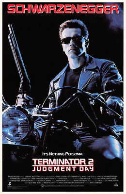 Terminator 2: Judgment Day (1991) original video poster - single-sided - rolled
