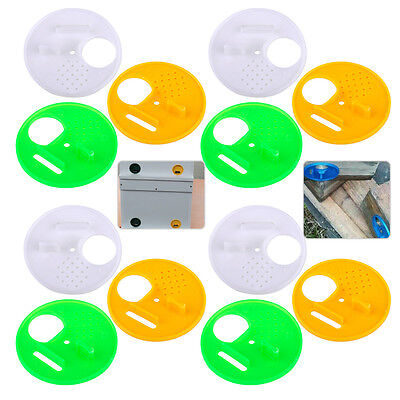 12ps Plastic Beekeeping Bee Hive Nuc Box Entrance Gate Beekeepers Equipment Tool