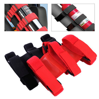 Roll Bar Fire Extinguisher Fixed Holder Safety Strap For Jeep Wrangler 2007-2016
