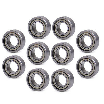 10pcs 5X10X4mm MR105ZZ MR105 Miniature Ball Bearings Shielded Mini Deep Groove