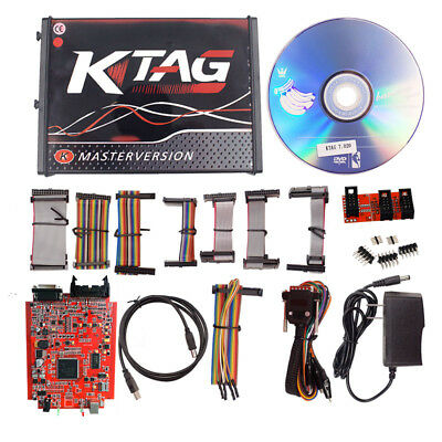 RED KTAG V7.020 4 LED Online Master No tokens Free+7Gifts+FREE DHL Practical