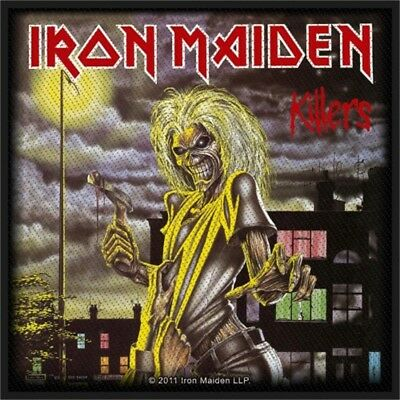 Iron Maiden Killers Album Cover Official New Black Patch - Band Logo Woven 10cm