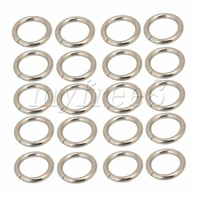 20pcs Straps Bags Purses Belting Metal Belts Buckle Loop Ring O Ring Silvery