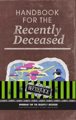 Beetlejuice: Handbook for the Recently Deceased Hardcover Ruled Journal (Hardbac