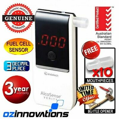 Andatech Alcosense White VERITY BREATHALYSER Personal Fuel Cell Alcohol Tester