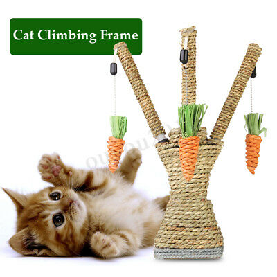 Pet Cat Kitten Scratching Post Toys Tree Tower Scratcher Sisal Rope