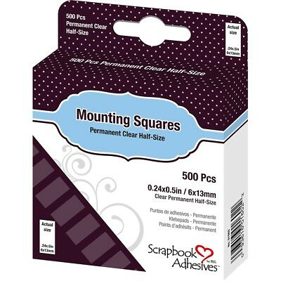 "Scrapbook Adhesives Mounting Squares 500/pkg-permanent, Clear, .5""x.25"""
