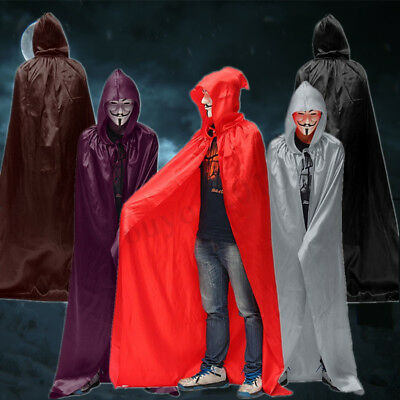 Halloween Medieval Costume Party Vampire Witchcraft Cape Hooded Cloak Wicca