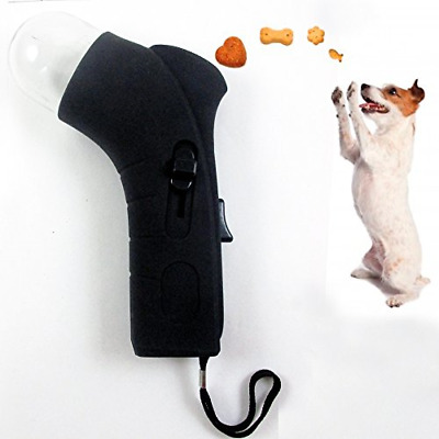Dog Treat Shooter Launcher Fetch Food Dispender Pet Toy Cat Fun Snacks Training