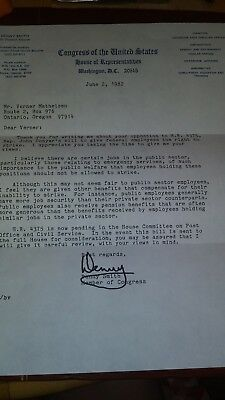 Congress of the United States House of Rapresntatives letter auto signed