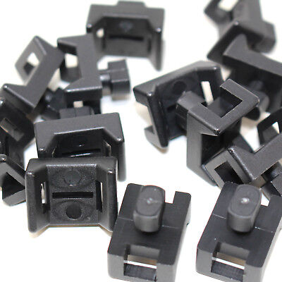 PACKS OF 100 x SADDLE CABLE TIE MOUNTS FOR 7.8mm WIDE TIE BAYONET MOUNT M8B
