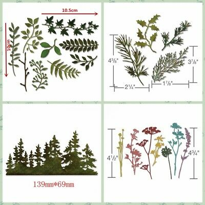 Mixed Large Leaves Metal Cutting Dies Diy Scrapbooking Handcraft Stencil Decor