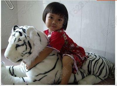 Hot White Tiger Plush Animal Realistic Tiger Hairy Soft Stuffed Toy Pillow 90cm