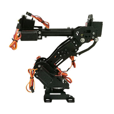 DIY 8DOF Stainless Steel Robot Arm 6 Axis Rotating Mechanical Robot Arm Kit