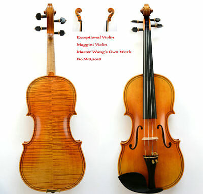 Exceptional Sounding Violin! Maggini Violin Model!Rare!200-y Old Spruce No.W8