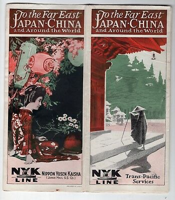 1920s NYK Steamship Line to Japan, China