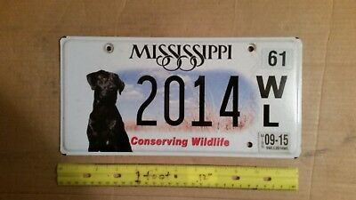 License Plate, Mississippi, 20th&21st Century #  2014     My collection cf. NOTE
