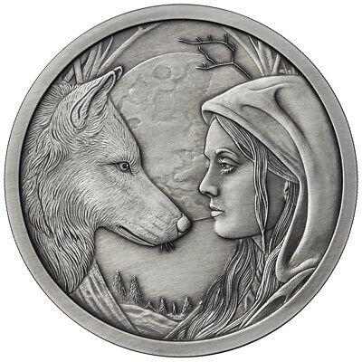 5 Oz Silver Coin Lisa Parker Collection Moonstruck Antique # Coa Only 250 Minted