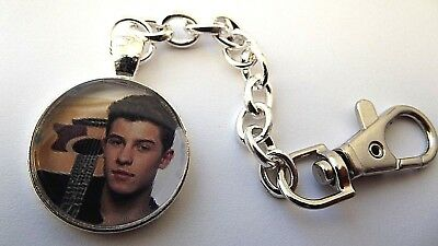 Shawn Mendes Photo Key Ring Strong Chain Singer  Silver Plated Gift Boxed Party