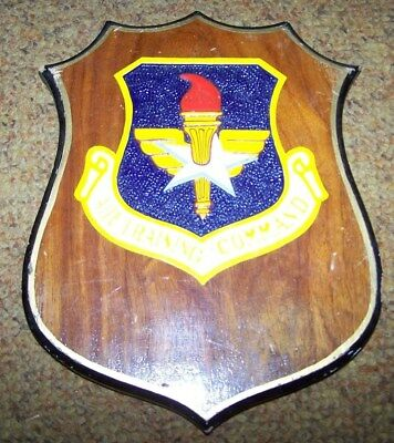 U.s. Air Force Air Training Command Plaque, Wood, Made In Philippines *nice*