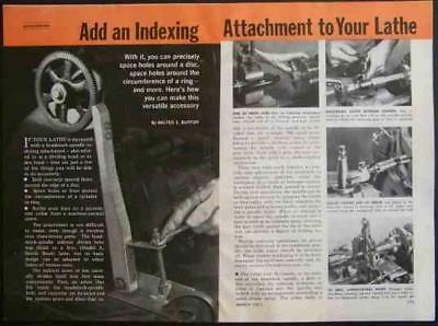 """INDEXING ATTACHMENT How-To build PLANS 9"""" South Bend"""