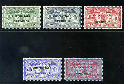 New Hebrides French 1925 Postage Due set MLH. SG FD53s-57s.