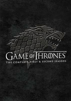 Game Of Thrones: Seasons 1 and 2 (DVD, 2014, 10-Disc Set) BRAND NEW