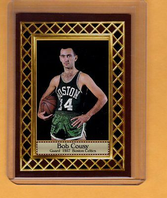 Bob Cousy '57 Boston Celtics, NBA Hall of Fame Fan Club serial numbered /300