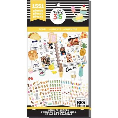 Happy Planner Sticker Value Pack-food, 1551/pkg
