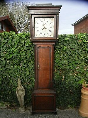18th Century Grandfather Clock / Nantwich / Maker John Stanyer / Longcase