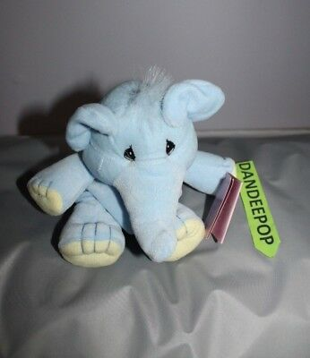 Enesco Tender Tails Elephant Stuffed Animal 358320 With Tag