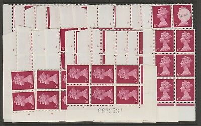 GB STAMPS CYLINDER BLOCKS SELECTION MACHINS 6d U/MINT FROM COLLECTION