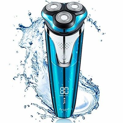 Paladou Professional Electric Razor Rotary Shavers For Men Portable Travel