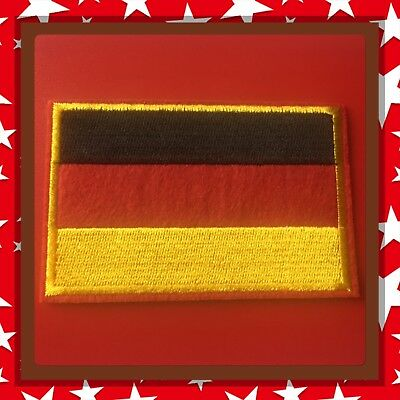 🇨🇦 Germany Patch Flag  Embroidered Sew On/stick On Clothing/new 🇨🇦