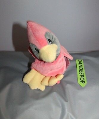 Enesco Tender Tails Pink Bird Stuffed Animal 471909 With Tag