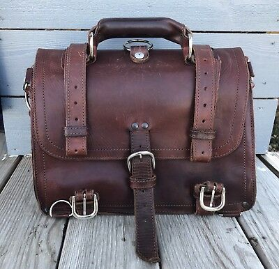 Saddleback Leather Co. 2007 Medium Classic Briefcase Suede Lined In Chestnut