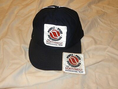 Vintage 1980's Northwest Orient Airlines    Blue Winter Baseball Cap w/ NWA logo